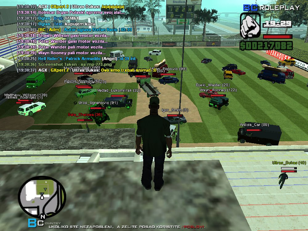 Car Fight Event on Balkan Country RolePlay server