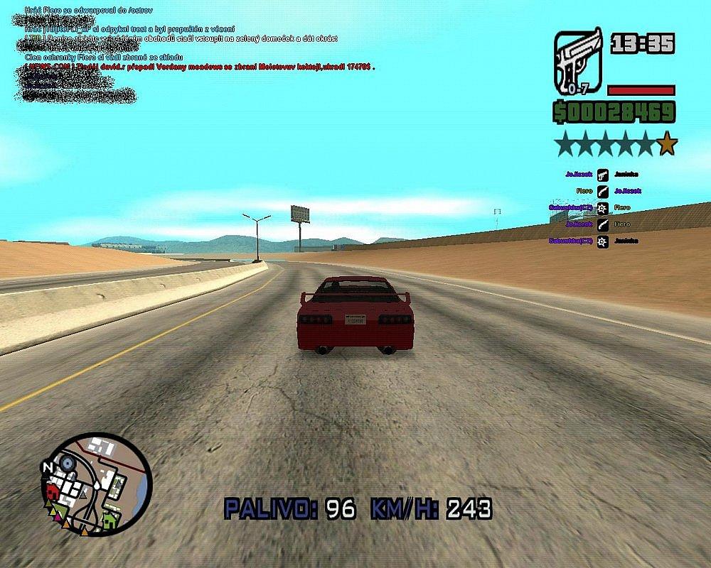 GTA SAMP největší rychlost