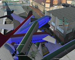 Pár spawnutých letadel :D