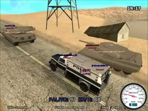 Gta San andreas multiplayer Dealeri vs. Zákon [HD]